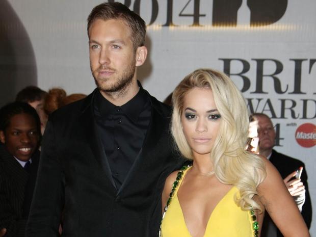 Rita Ora and her ex Calvin Harris