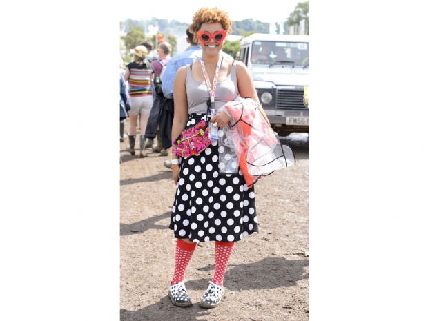 Gemma Cairney in her signature festival style