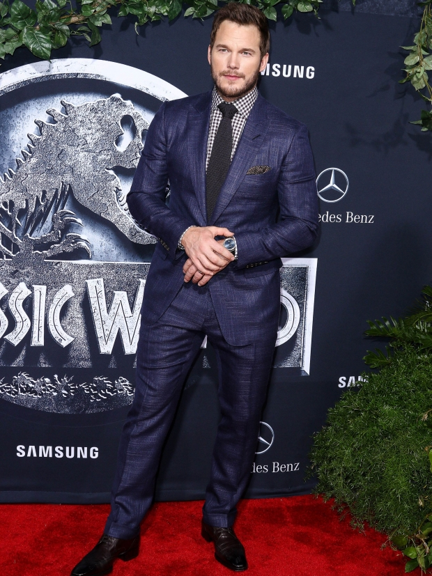 Chris Pratt on the Jurassic Park red carpet