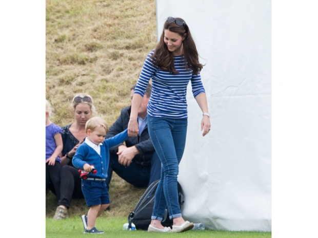 Kate looks incredible in her breton striped top