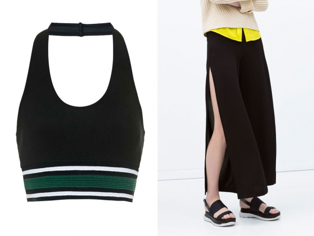 Sporty separates at Topshop and Zara.
