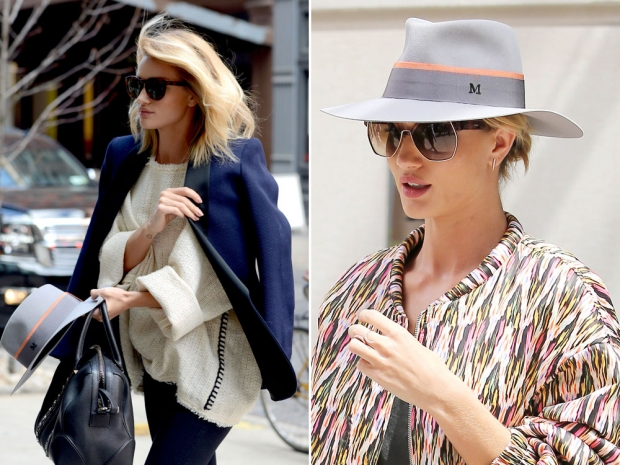 Rosie Huntington-Whiteley's new hat obsession.