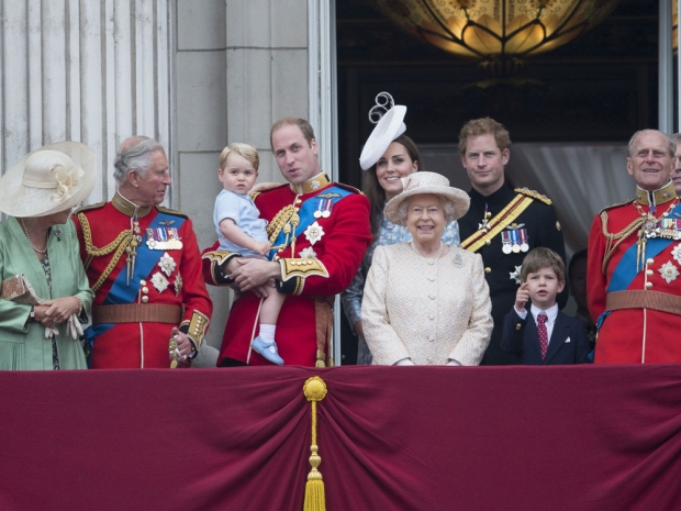 Royal Family trooping of the colour 2015