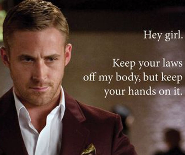 One of the memes from Feminist Ryan Gosling