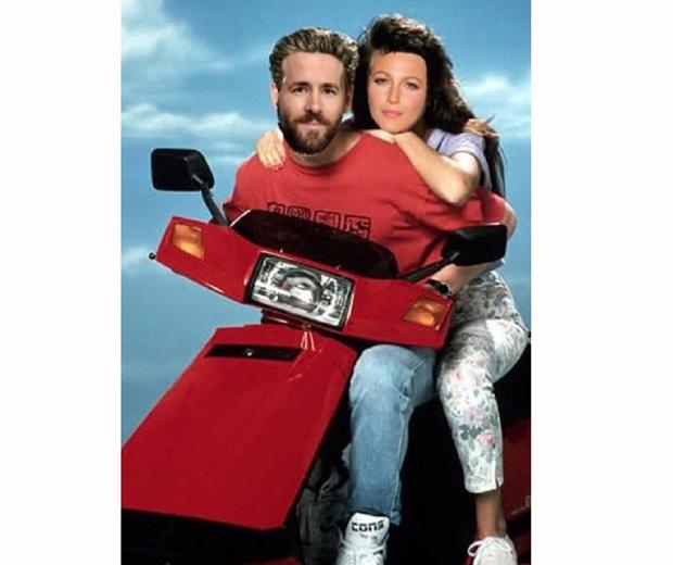 Ryan Reynolds and wife Blake Lively instagram retro shot
