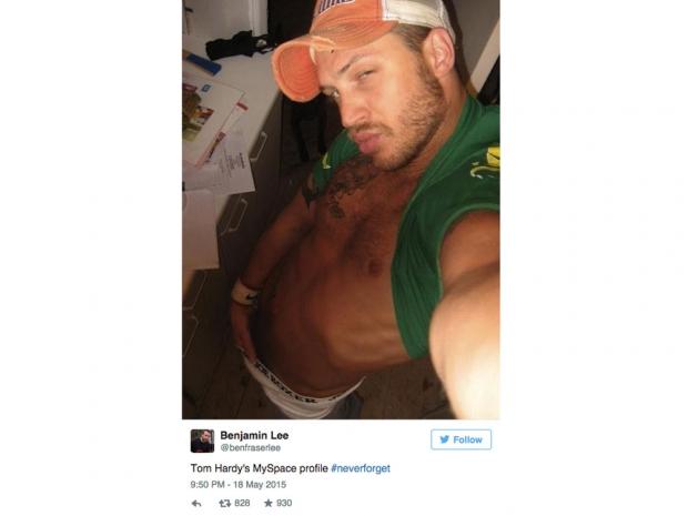Tom Hardy's amazing hands-in-pants selfie.