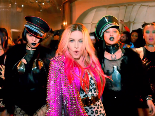 Madonna in her new video