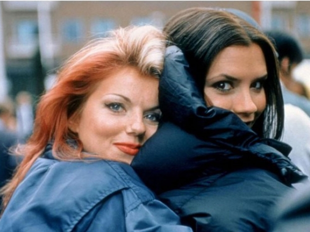 Victoria Beckham and Geri Halliwell in a throwback snap.