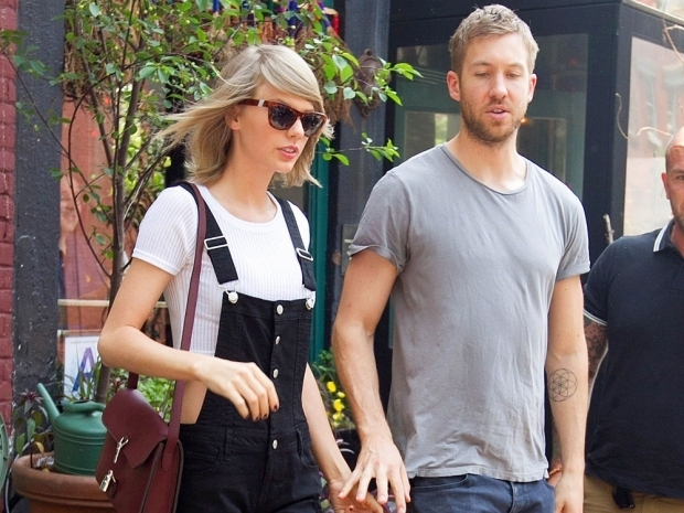 calvin harris and taylor swift in dungarees