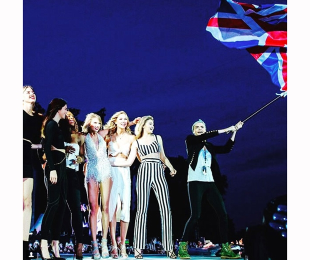 taylor swift on stage at british summer time concert