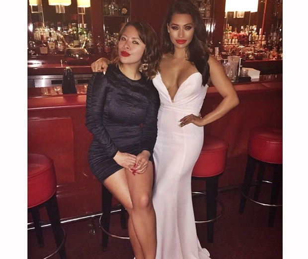 Vanessa White looked gorgeous in her white maxi dress at the Butterfly Ball