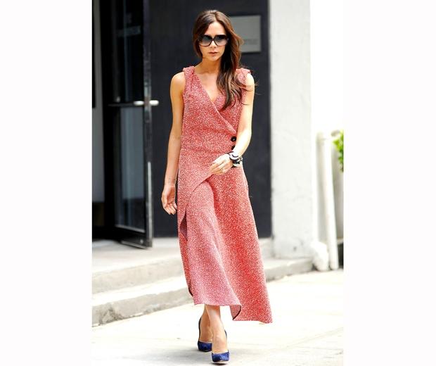 victoria beckham in red dress