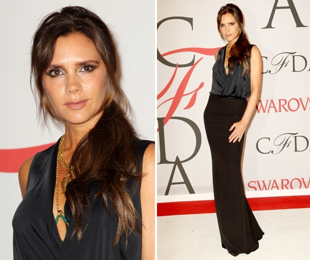 Victoria Beckham at the CFDAs rocking her Louisa Guinness necklaces