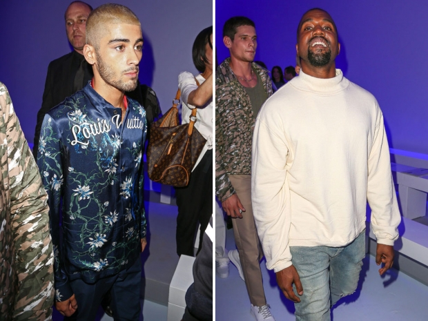 Zayn Malik and Kanye West at the Louis Vuitton Show In Paris.