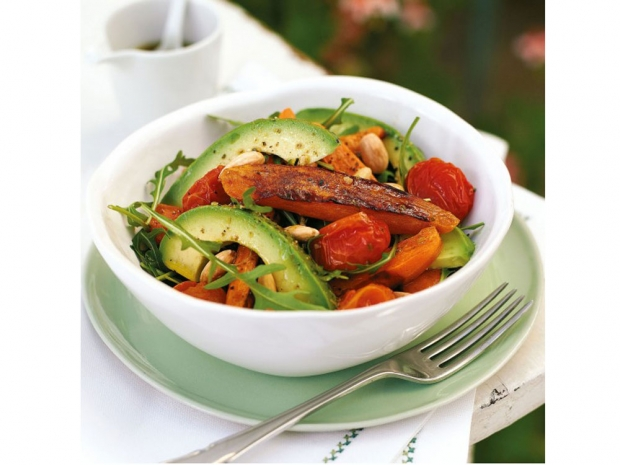 Roasted Sweet Potato and Almond Salad (Women and Home)
