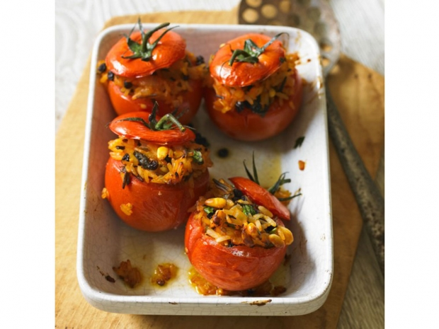 Baked Stuffed Tomatoes (Women and Home)