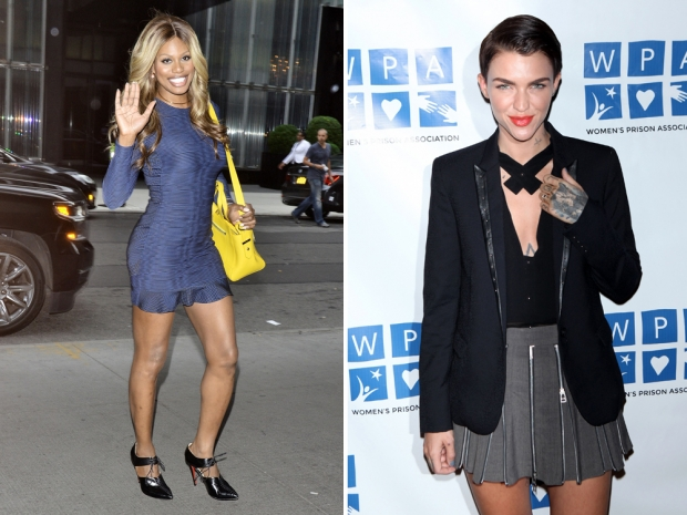 Laverne Cox (L) and Ruby Rose (R)
