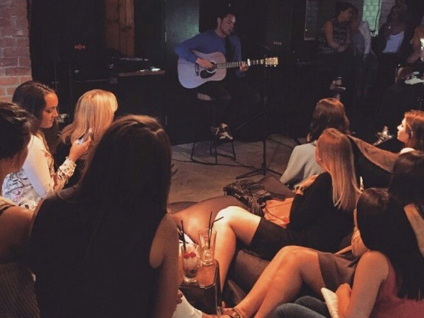 Andy Jordan performing in Instagram photo