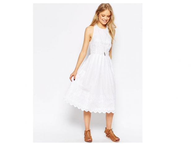 white dress, Asos, £45