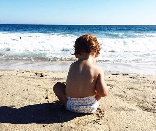 baby on a beach