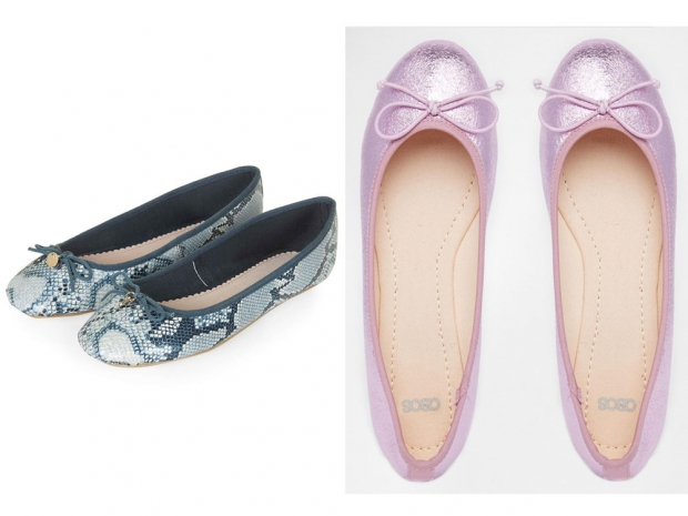 ASOS and Topshop ballet pumps.