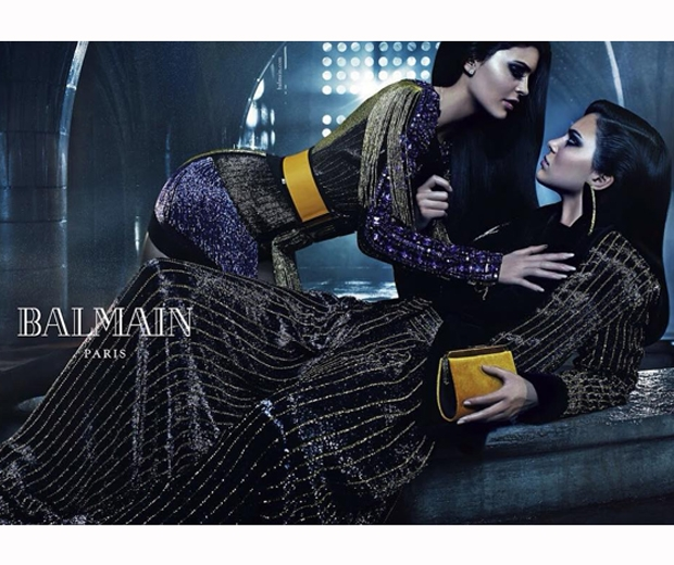 Kendall and Kylie Jenner sizzle in the new Balmain AW15 campaign