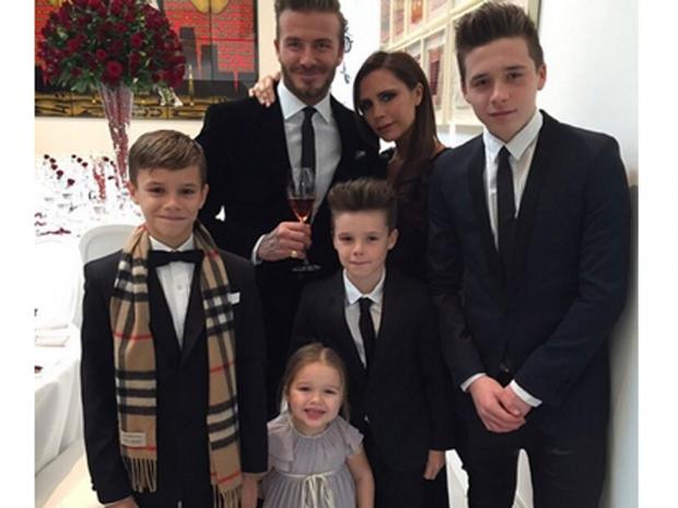 The beckham family, harper beckham