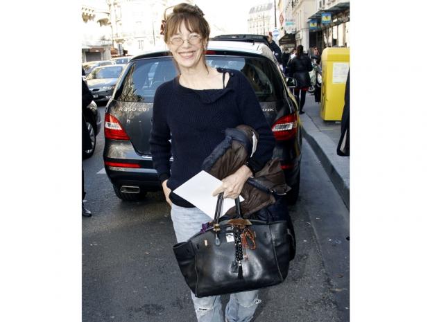 Jane Birkin with her namesake, the Hermès Birkin bag