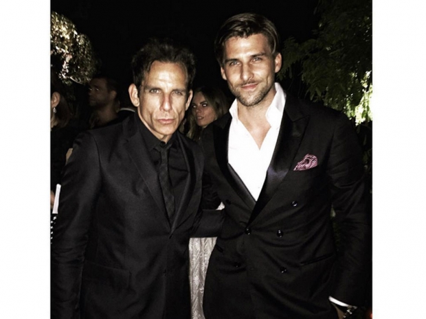 Johannes Huebl and Ben Stiller at the Valentino couture show.