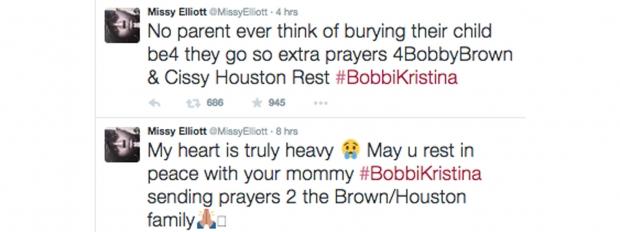 Missy Elliott tweets Bobbi Kristina