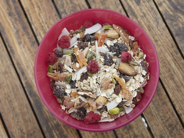 A bowl of muesli