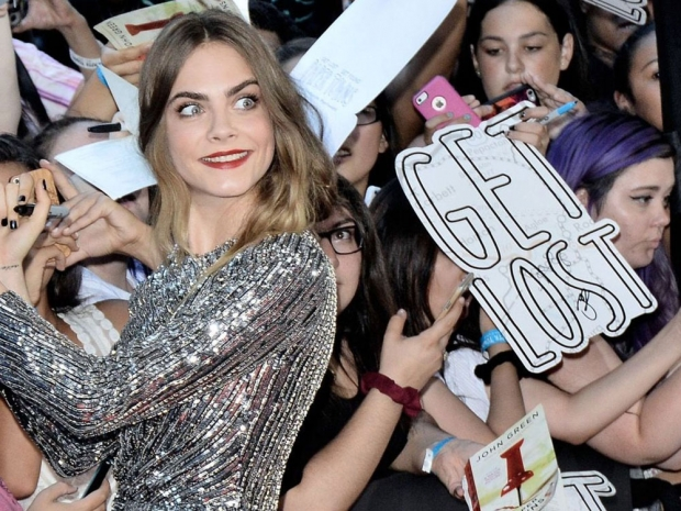 Cara Delevingne at the New York premiere of Paper Planes