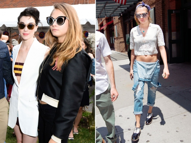 Cara Delevingne and St Vincent in New York.