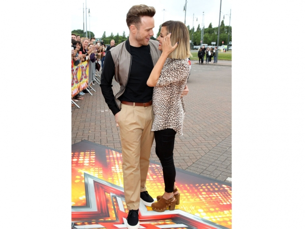 Caroline Flack and Olly Murs at The X Factor auditions