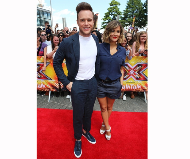 caroline flack and olly murs at the london x factor auditions