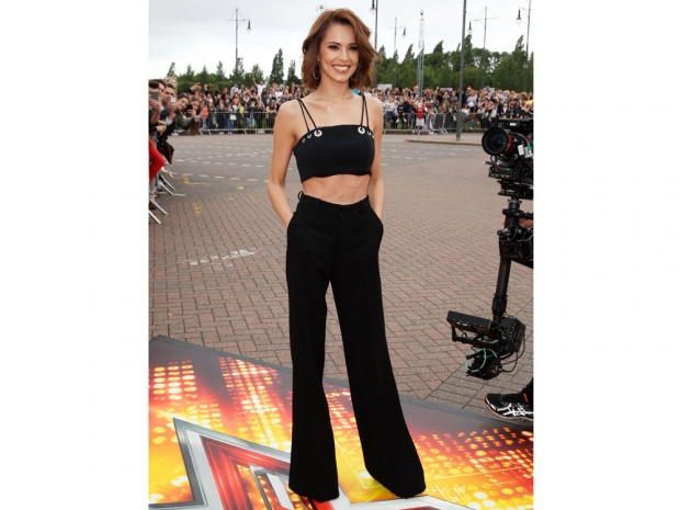 Cheryl Fernandez-Versini wearing black at The X Factor auditions