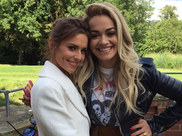 Cheryl Fernandez-Versini and Rita Ora on The X Factor set