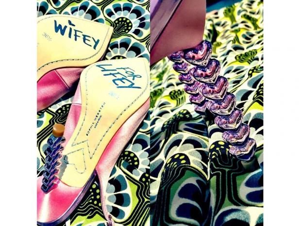 Cheryl's Sophia Webster shoes on Instagram