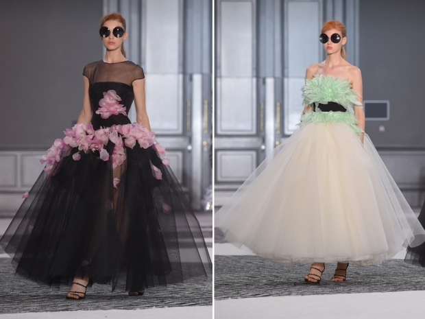 Giambattista Valli tulle dresses from the AW15 couture show