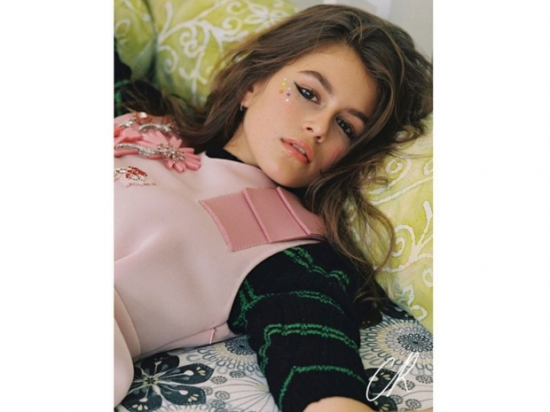 Kaia Gerber in CR Fashion Book.Photo: Instagram @CRFashionbook / Bruce Weber