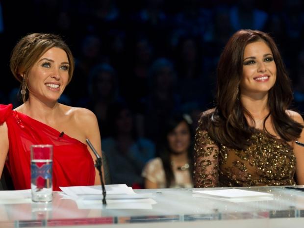 Dannii Minogue and Cheryl Fernandez-Versini on The X Factor