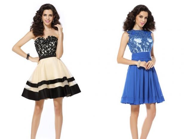 Organza Applique Dress, £64.81 & Applique Chiffon Dress, £70.42