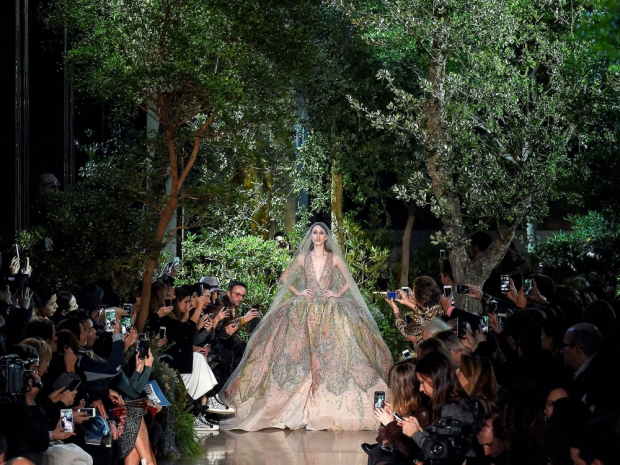 Ellie Saab's Magical Bride At The Couture Spring Summer 2015 Show