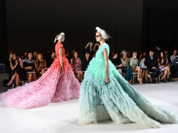 Stunning Ruffles At The Giambattista Valli Couture Autumn Winter 2014 Show