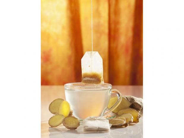 Ginger tea, healthy snacks