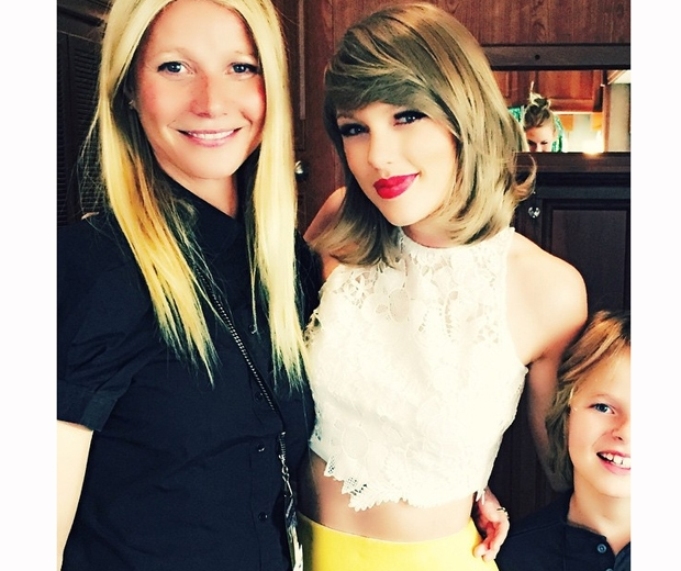 gwyneth paltrow at taylor swift concert with moses