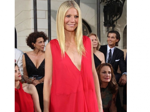 Gwyneth Paltrow at the Valentino Couture show.