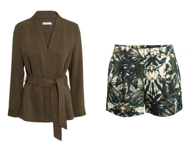 H&M Lyocell Jacket, £29.99 & H&M Shorts, £19.99