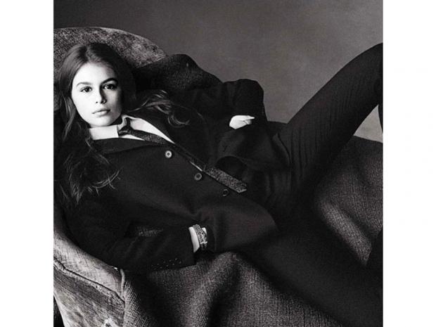 Kaia Gerber in Vogue Italia. Photo: Instagram @CindyCrawford / Steven Meisel