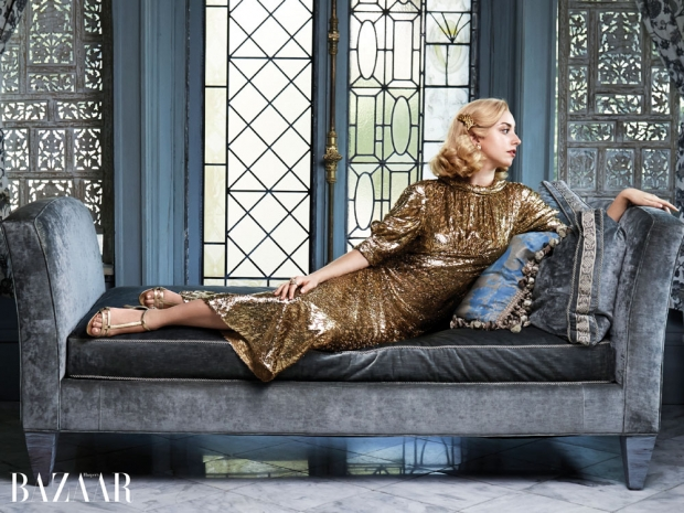 Grace Kelly's Granddaughter Jazmin models for Harpers Bazaar